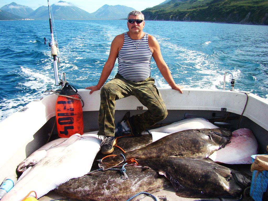 морская рыбалка на палтуса на камчатке